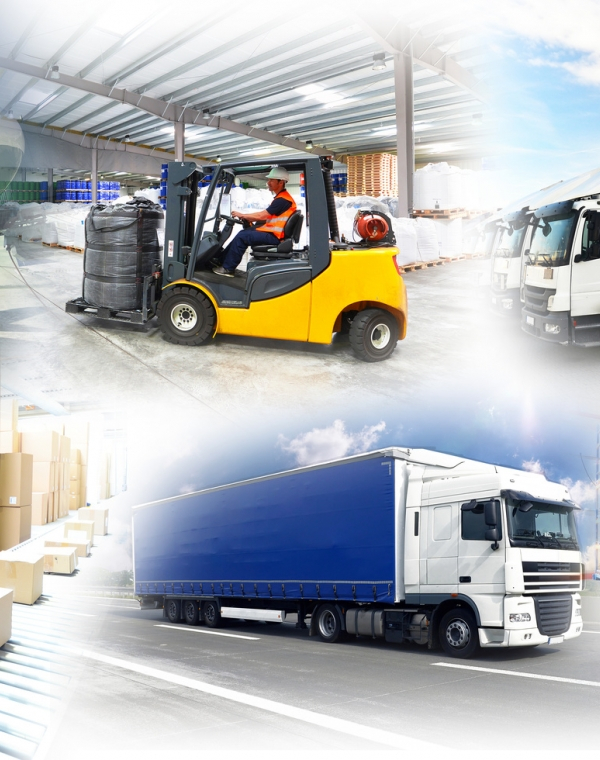 Optimised and pooled logistics, co-transportation with other companies